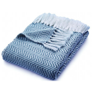 Hug Rug Woven Throw | Herringbone Denim