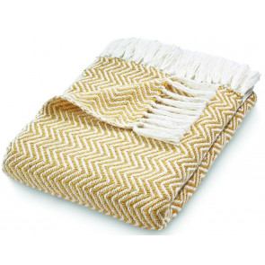 Hug Rug Woven Throw | Herringbone Gold