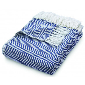 Hug Rug Woven Throw | Herringbone Navy