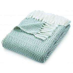 Hug Rug Woven Throw | Herringbone Sky Grey