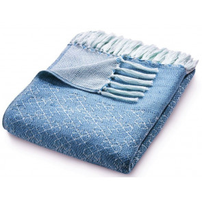 Hug Rug Woven Throw Trellis Denim Blue