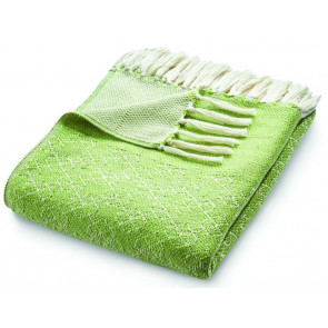 Hug Rug Woven Throw Trellis Green