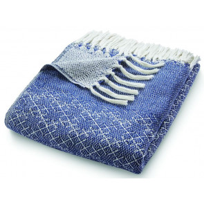 Hug Rug Woven Throw Trellis Navy