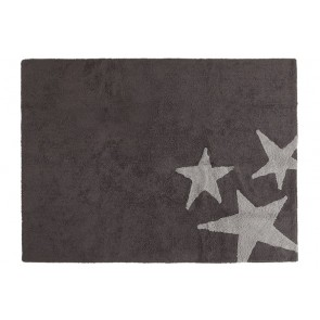 Children's Rug Three Stars Grey Zoom