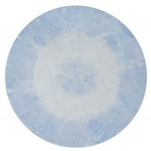 Children's Rug - Tie Dye Soft Blue