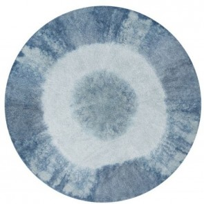 Children's Rug - Tie Dye Vintage Blue