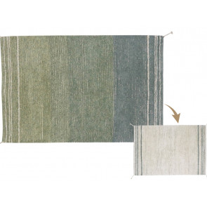 Lorena Canals Rug Reversible | Twin Vintage Blue