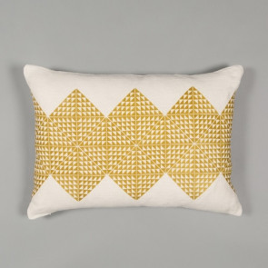 Niki Jones Cushion Geotile Chartreuse