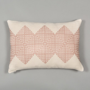 Niki Jones Cushion Geotile Dusky Pink