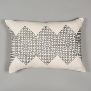 Niki Jones Cushion Geotile Ash Grey