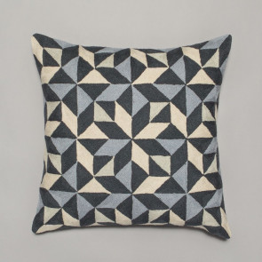 Niki Jones Cushion Kaleidoscope Grey Tones