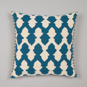 Niki Jones Cushion Lattice Teal