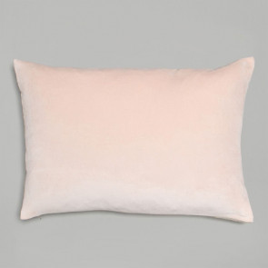 Niki Jones Cushion Velvet Linen Nude Pink Rectangular