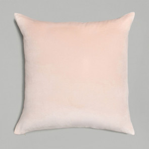 Niki Jones Cushion Velvet Linen Nude Pink