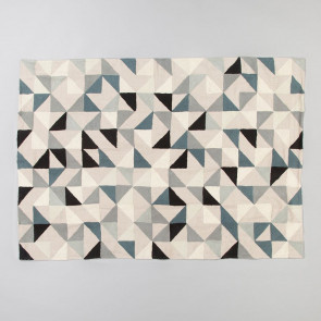 Niki Jones Throw & Quilt Harlequin Grey Tones