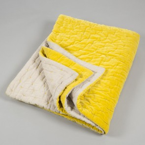 Niki Jones Throw and Quilt Chartreuse