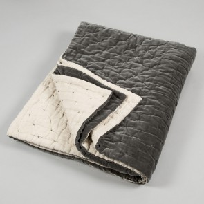 Niki Jones Throw and Quilt Slate