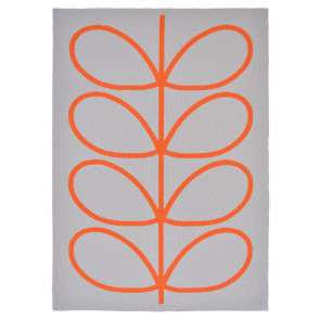 Orla Kiely Rug | Indoor Outdoor | Giant Linear Stem Persimmon