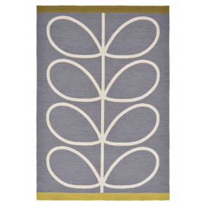 Orla Kiely Rug | Indoor Outdoor | Giant Linear Stem Slate