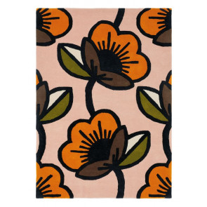 Orla Kiely Rug | Passion Flower Pink 059602 | Custom Size