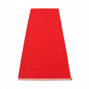 Pappelina Rug Mono Coral Red