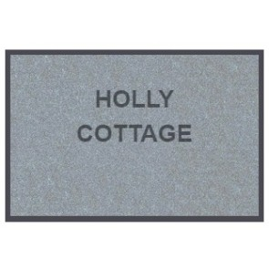 Personalised Doormat Soft Nylon Grey