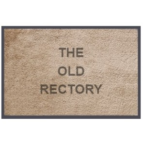 Personalised Doormat Soft Nylon Taupe Zoom