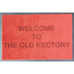 Personalised Doormat Soft Nylon Terracotta