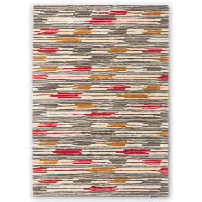 Sanderson Rug | Ishi Indian Red Charcoal 146000