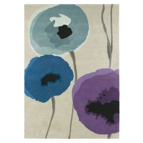 Poppies Indigo/Purple