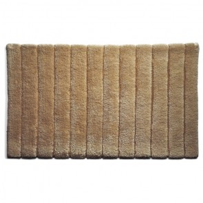 Bamboo Bath Mat Stripe Latte