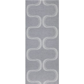 Swedy Indoor / Outdoor Runner - Waves Mid Grey 60cm x 110cm