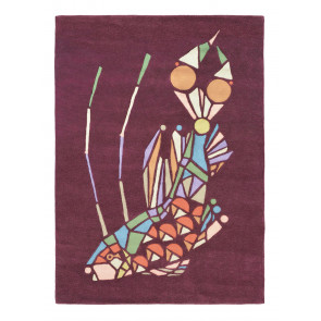 Ted Baker Rug Emerging Fish Burgundy 60500