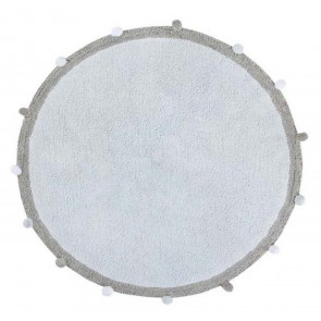 Round Rug Bubbly - Soft Blue