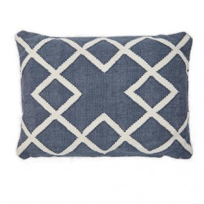 Weaver Green Cushion Juno Navy Oblong