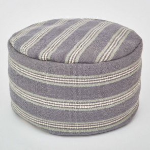 Weaver Green Footstool Henley Stripe Clay