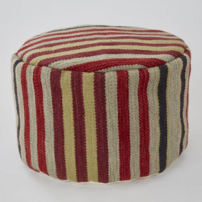Weaver Green Footstool Regimental Stripe