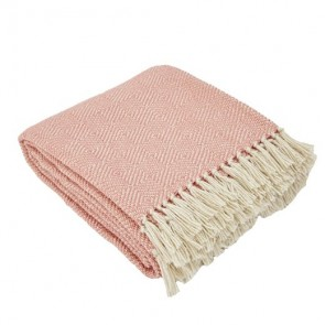 Weaver Green Throws Diamond Coral Main