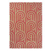 Florence Broadhurst Rug   Turnabouts 039200 Claret