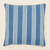 Weaver Green Cushion | Henley Stripe Santorini