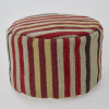 Weaver Green Footstool | Regimental Stripe