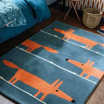 Scion Rug Mr Fox Denim