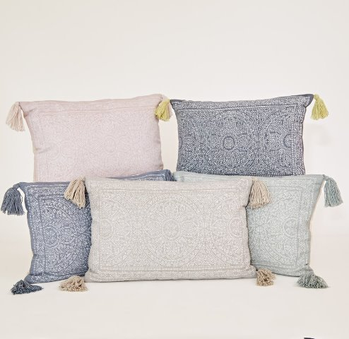 Weaver Green Cushions